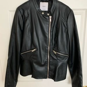 Mango, faux leather jacket, size L